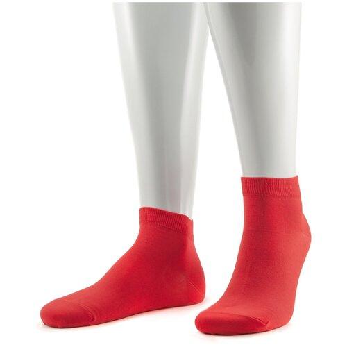 Мужские носки из мерсеризованного хлопка Sergio di Calze красные, размер 29