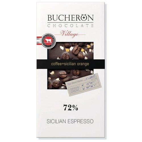 Шоколад BUCHERON VILLAGE горький с зернами кофе и апельсином в картоне, 100г шоколад libertad royal горький с апельсином 2 3 кг