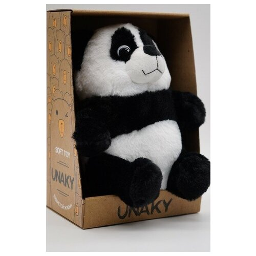 Мягкая игрушка в средней подарочной коробке Панда Фо Бо средняя, 25 см, с шариками для мелкой моторики