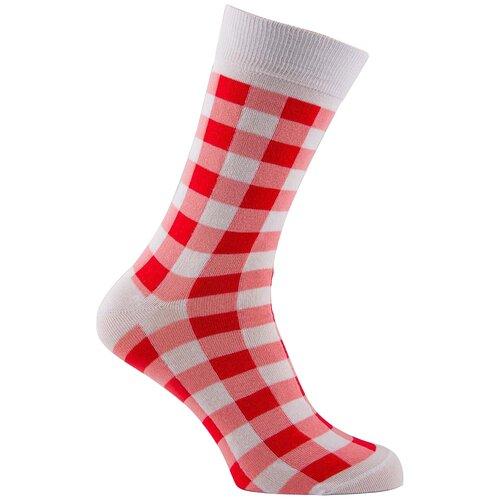 Носки Годовой запас носков Дизайнерские D15, размер 29 (44-45), красно-белая клетка
