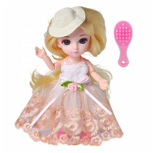 Кукла шарнирная Funky Toys Малышка Лили, блондинка, с расчёской, 16 см 72003