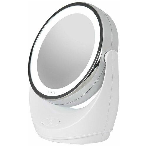 Зеркало косметическое настольное PLANTA PLM-1425 с подсветкой белый