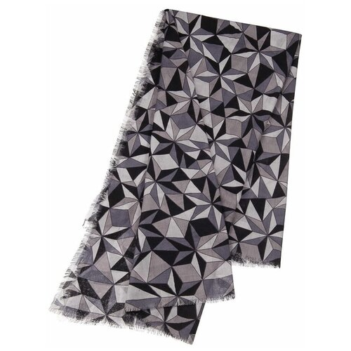 Платок Dr.Koffer S810645-135 100% шерсть черный/серый
