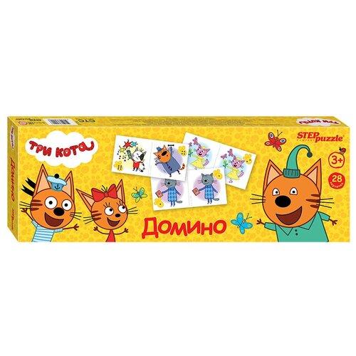 Настольная игра Step puzzle Домино Три кота недорого