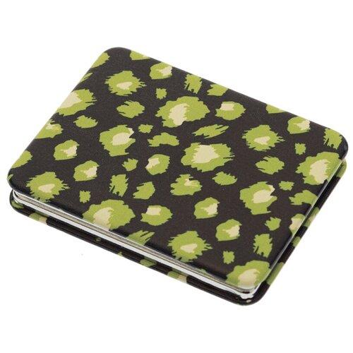 Купить Зеркало косметическое карманное Dewal Beauty Дикая природа зелёный гепард