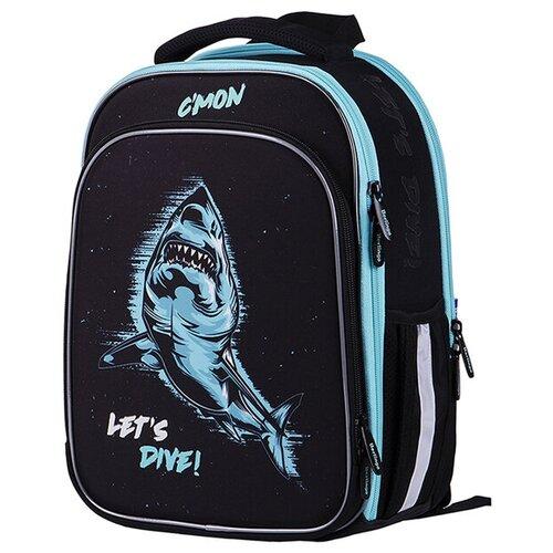 Купить Berlingo ранец Expert Plus Shark, голубой/черный, Рюкзаки, ранцы