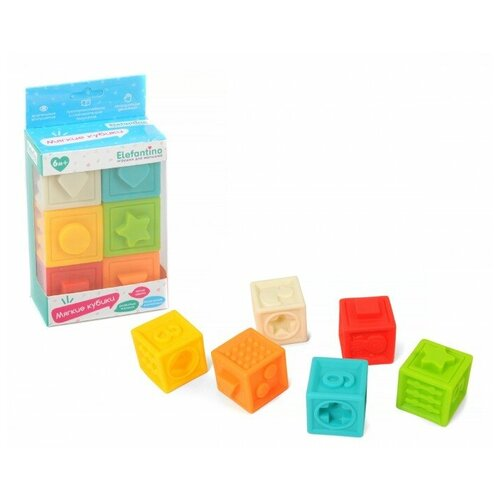 Кубики Elefantino Мягкие кубики IT106448