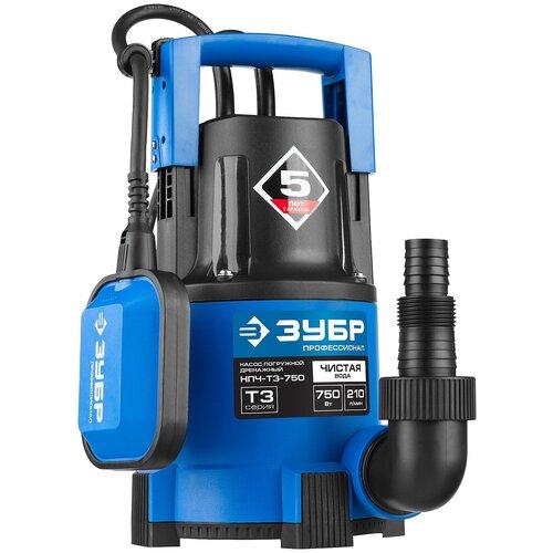 Фото - Дренажный насос для чистой воды ЗУБР НПЧ-Т3-750 (750 Вт) дренажный насос для чистой воды зубр нпч т3 550 550 вт