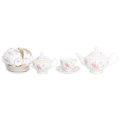 Чайный сервиз Elan gallery Диана, 6 персон, 14 предм., белый