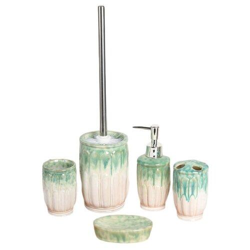 Фото - Набор для ванной Доляна Колос 450349, бирюзовый набор для ванной доляна грация 2698471 персиковый