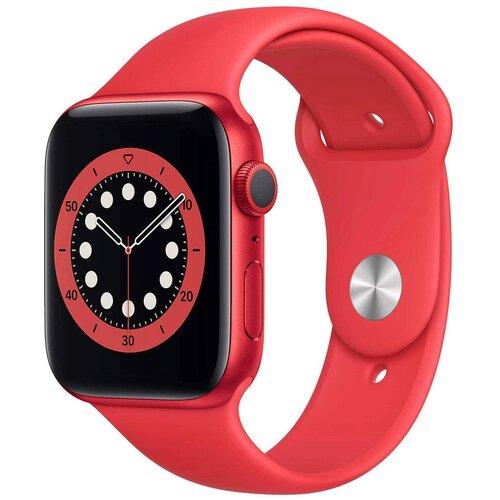 Умные часы Apple Watch Series 6 GPS 44мм Aluminum Case with Sport Band, (PRODUCT)RED умные часы apple watch series 6 gps 44mm aluminum case with sport band white серебристый белый