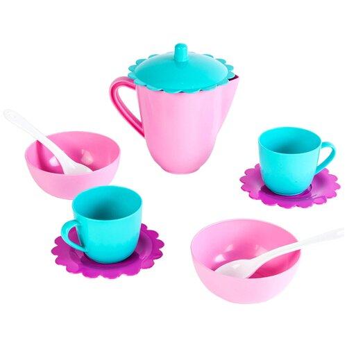 Купить Набор посуды Mary Poppins Зайка 39323 розовый/голубой/фиолетовый, Игрушечная еда и посуда