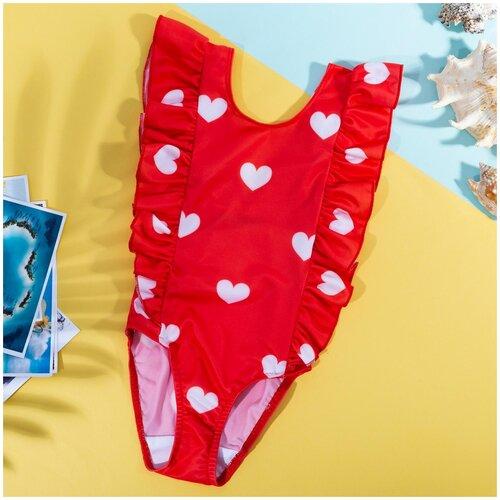 Купить Купальник Kaftan размер 98-104, красный, Белье и купальники