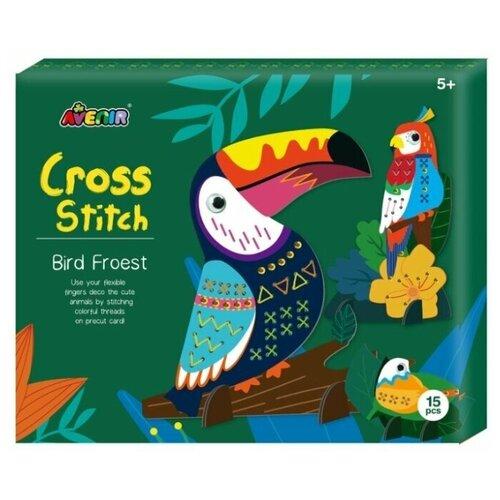 AVENIR Набор для вышивания Лесные птицы (CH1688) набор для вязания аксессуаров avenir модные сумочки