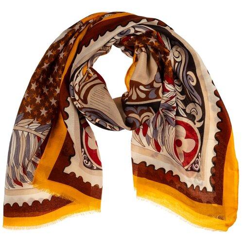 Палантин на голову/шарф палантин/палантин на шею/красивый палантин модный женский шарф шарф платок/легкий/21kdgvispn2201-31vr коричневый, красный/Vittorio Richi/100% вискоза/180x90