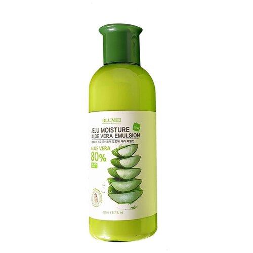 Blumei Jeju Moisture Aloe Vera Emulsion Увлажняющая эмульсия для лица с алоэ вера, 200 мл muse vera sprout energy emulsion эмульсия для лица с экстрактом ростков баобаба 130 мл