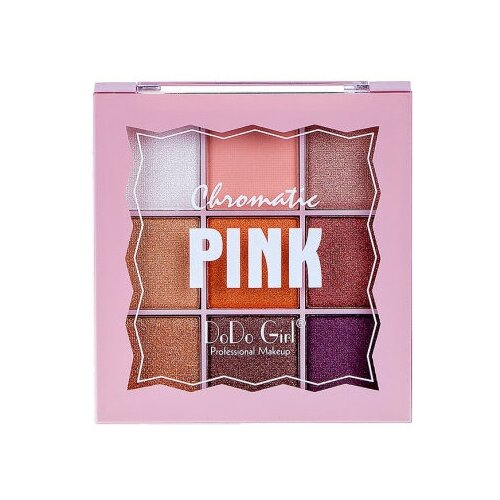 DoDo Girl Палетка теней Chromatic 9 цветов 01 Pink