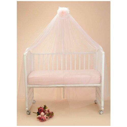 Фото - Балдахин для детской кроватки Patrino Сельвино (розовый кварц) 170х600 см браслет розовый кварц биж сплав текстиль шамбала 10 мм 16 см регулируемый