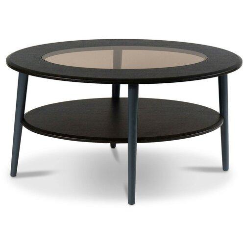 Столик журнальный Калифорния мебель Эль СЖС-01, ДхШ: 90 х 60 см, венге/черный недорого