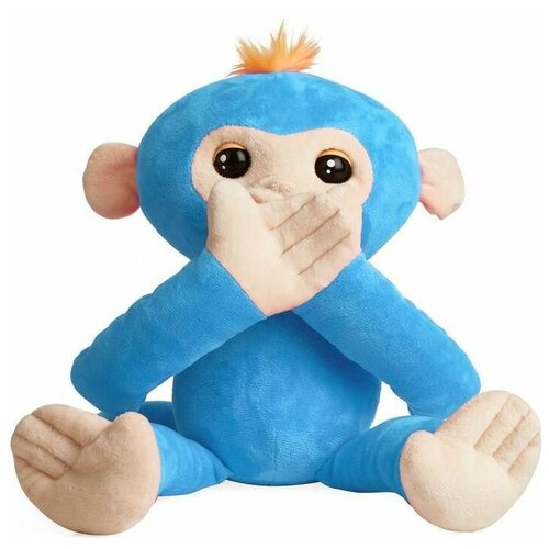 Интерактивная мягкая игрушка WowWee Fingerlings Hugs Обезьянка-обнимашка голубой