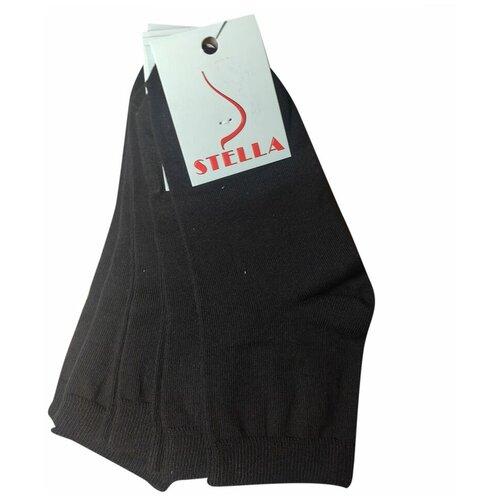 Комплект черных женских коротких носков из хлопка, 5 пар, р-р 36-37