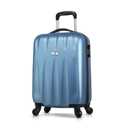 Чемодан пластиковый с колесами DELVENTO Best синий, маленький размер