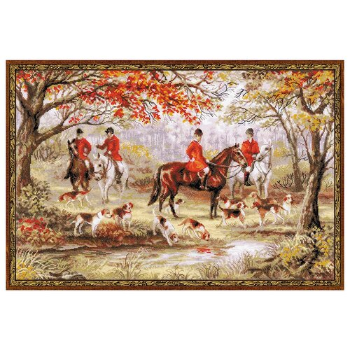 Фото - Риолис Набор для вышивания крестом Охота на лис 60 x 40 (1431) риолис набор для вышивания крестом русская охота 60 x 40 1639