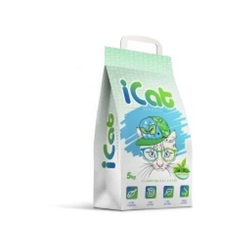 Icat комкующийся наполнитель контроль запаха с ароматом зеленого сада, 5 кг, греция (2 шт) icat наполнитель комкующийся белый для туалета кошек с ароматом детской присыпки 5 кг