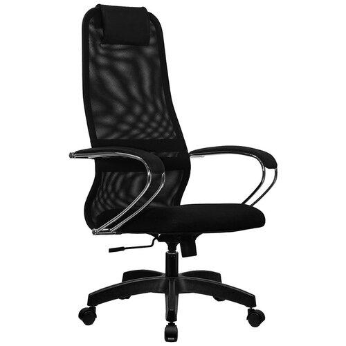 Кресло для руководителя Метта SU-B-8, подл.101/осн.001, обивка: текстиль, цвет: ткань-сетка черная №20