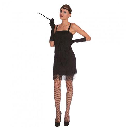 Женское черное платье Флеппер, размер 46-48.