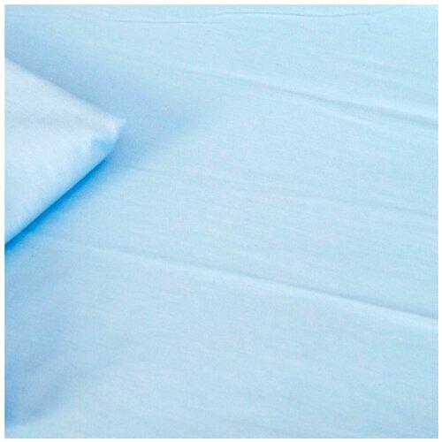 Купить Cloud factory простыня на резинке Plain 125х65 см голубой, Постельное белье и комплекты