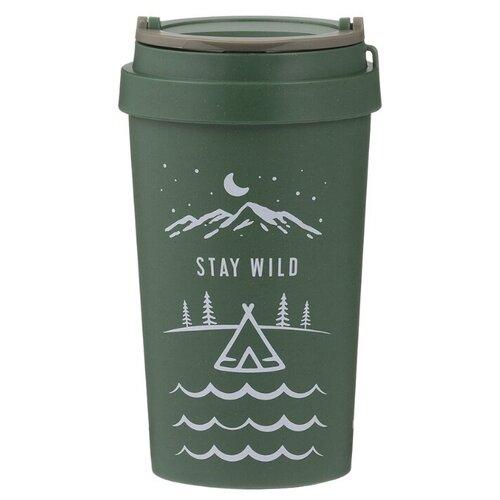 Тамблер TYPHOON Stay Wild, 0.38 л зеленый