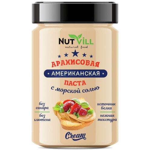 Паста Американская арахисовая с морской солью NutVill, 180 г nattys арахисовая паста chili с перцем чили и морской солью 325 г