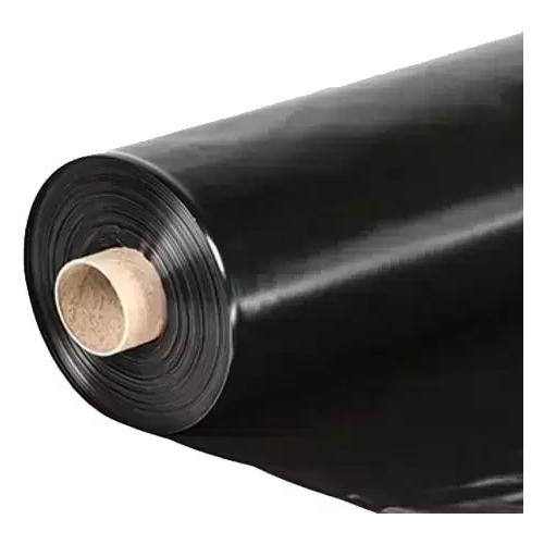 Пленка полиэтиленовая техническая черная 100 мкм ТУ (ГОСТ 60 мкм), рукав 1.5 м (3 м в развороте) х 100 м, 13 кгх 100 м, 13 кг