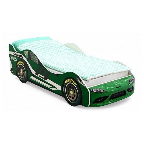 Кровать-машина Супра; зеленый