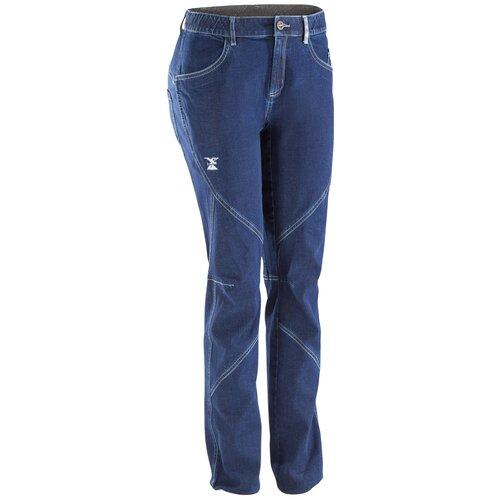 Брюки для скалолазания джинсовые эластичные женские темно-синие , размер: 44, цвет: Сине-Фиолетовый SIMOND Х Декатлон