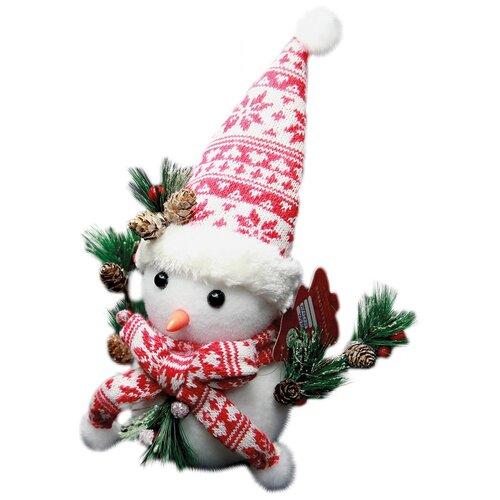 Рождественская декоративная фигурка Снеговик, 20х25 см