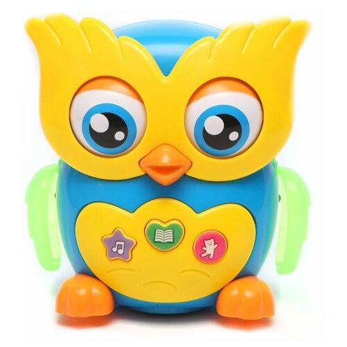 Фото - Интерактивная развивающая игрушка Азбукварик Музыкальная сова, желтый/синий музыкальная интерактивная игрушка часики веселый кеша тм азбукварик