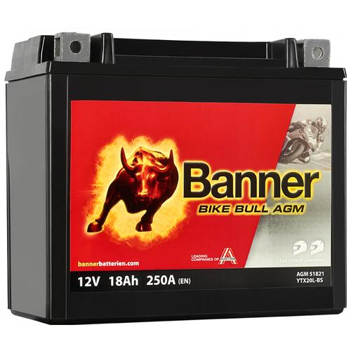Мото аккумулятор Banner Bike Bull AGM AGM 518 21 / YTX20L-BS