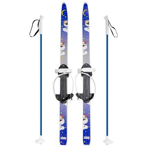 Беговые лыжи Олимпик Быстрики с креплениями, с палками пингвины 90 см