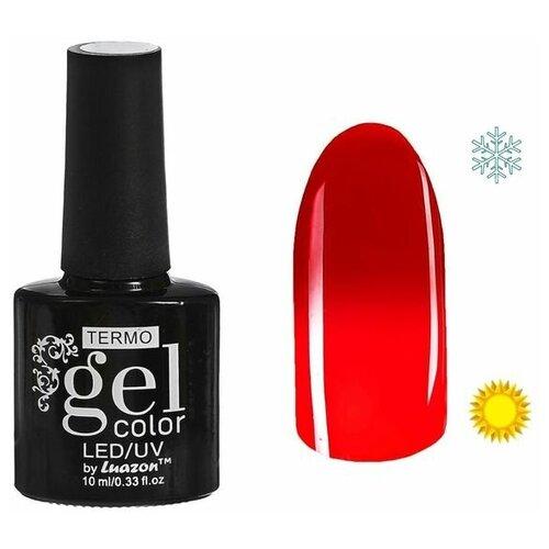 Фото - Гель-лак для ногтей Luazon Gel color Termo, 10 мл, A1-024 красное яблоко гель лак для ногтей luazon gel color termo 10 мл а2 076 пурпурный перламутровый