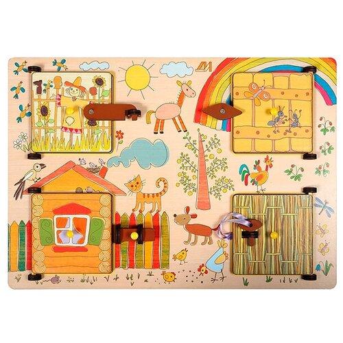 Бизиборд Деревянные игрушки Ферма разноцветный