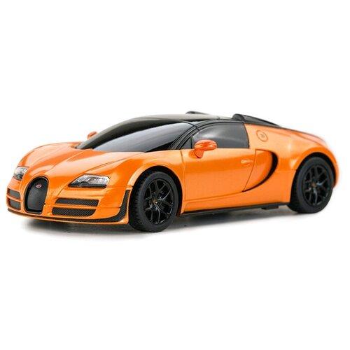 Фото - Rastar Bugatti Grand Sport Vitesse (47000) 1:24 оранжевый/черный гоночная машина rastar bugatti veyron grand sport vitesse 53900 1 18 черный