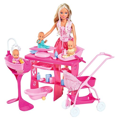 Фото - Набор кукол Steffi Love Штеффи с 3 малышами, 29 см, 5733212029 набор кукол steffi love штеффи с новорожденным 29 см 5730861