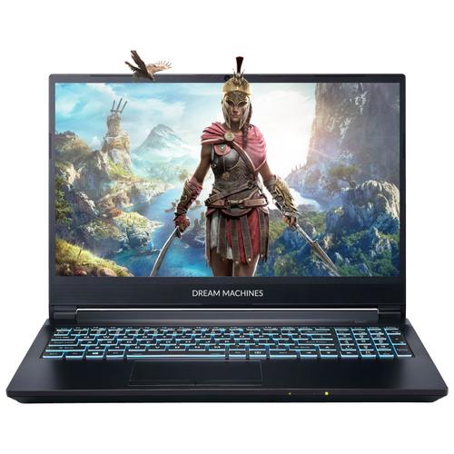 """Ноутбук Dream Machines G1660Ti-15RU55 (Intel i7-10750H/15.6""""/1920x1080/8 GB/500GB M.2 SSD/Nvidia GTX1660Ti 6 GB/Без ОС) G1660Ti-15RU55 черный"""