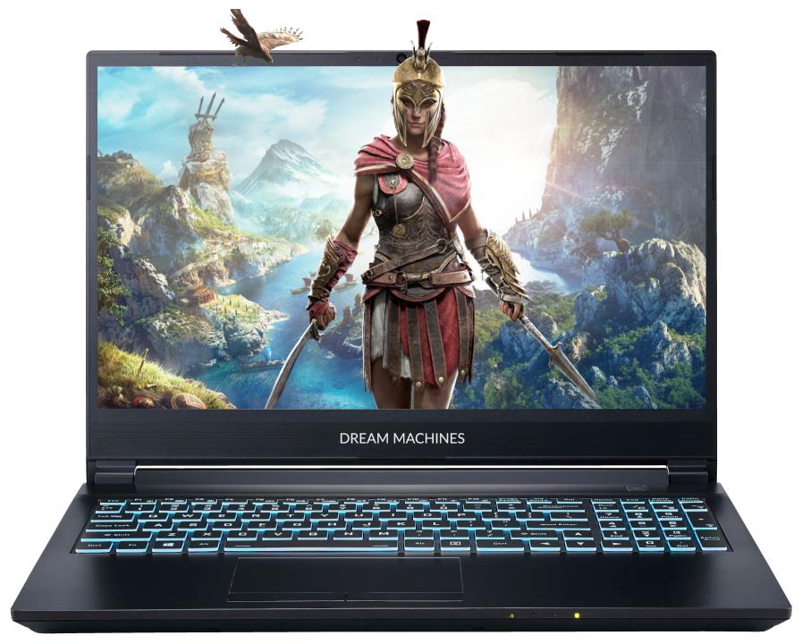 "Ноутбук Dream Machines G1660Ti-15RU55 (Intel i7-10750H/15.6""/1920x1080/8 GB/500GB M.2 SSD/Nvidia GTX1660Ti 6 GB/Без ОС) — цены на Яндекс.Маркете"