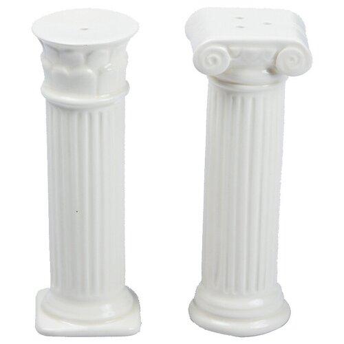 Солонка и перечница Doiy керамические Hestia белые