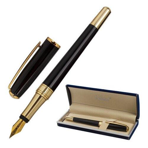 Купить Ручка подарочная перьевая GALANT LUDUS , корпус черный, детали золотистые, узел 0, 8 мм, 143529, Ручки