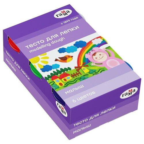 Купить Масса для лепки ГАММА Малыш 6 цветов (509193), Пластилин и масса для лепки