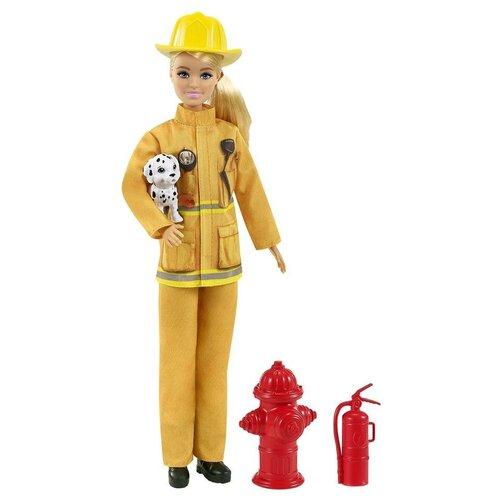 Купить Кукла Barbie в пожарной форме с аксессуарами, GTN83, Куклы и пупсы